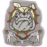 Aufnäher - Hundekopf Official Hooligan - 04405 - Gr. ca.  8,5 x 8 cm - Patches Stick Applikation