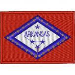AUFNÄHER - USA - Arkansas - 05534 - Gr. ca. 8 x 5 cm - Patches Stick Applikation