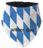 Dreieckstuch mit Einstickung - WILDER BUA - 12233 blau-weiße Rauten