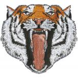Aufnäher - Tigerkopf - 07370 - Gr. ca. 18 x 18 cm - Patches Stick Applikation