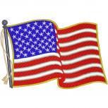 Rückenaufnäher - USA - Fahne  - 07449 - Gr. ca. 28 x 22 cm - Patches Stick Applikation