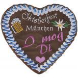 Rückenaufnäher - Oktoberfest München - Herz - 08593 - Gr. ca. 21 x 18 cm5 cm - Patches Stick Applikation
