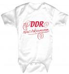Babystrampler mit Print – DDR Nachkomme – 08389 weiß - 0-24 Monate