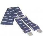 Hosenträger mit Print - Hosenhalter Polizei - 06698 blau