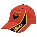 Baseballcap - WM - Cap mit Bestickung - Land Wappen Angola - 67012 orange - Cappy Kappe Baumwollcap