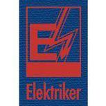 Hosenträger mit Print Emblem Abzeichen - Elektriker - 06745 blau