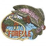 Aufnäher - Fisch Forelle - 04543 - Gr. ca. 7,5cm x 6cm