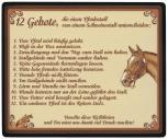 Mousepad Mauspad mit Motiv - 12 Gebote Pferdestall - 22554 - Gr. ca. 24 x 20 cm