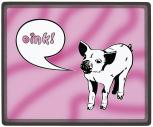 Mousepad Mauspad mit Motiv - Schwein oink - 22657 - Gr. ca. 24 x 20 cm