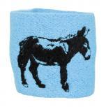 Pulswärmer mit Einstickung - Esel - 56439 hellblau