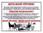 Hinweisschild - Bitte nicht füttern -  308625 - Gr. ca. 40x30cm - Landwirtschaft Tiere Pferd