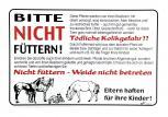 Hinweisschild - Pferde ... bitte nicht füttern - 308626 - Gr. ca. 30cm x 20cm - Landwirtschaft Tiere Pferd